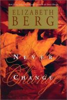 Never change Book cover