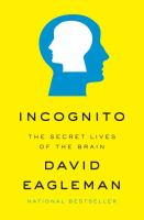 Incognito : the secret lives of the brain  Cover Image